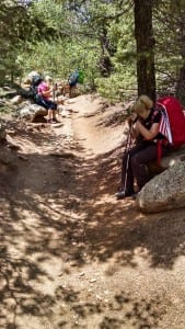 Prayer walk pikes peak barr trail 2015