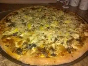Chicken Artichoke Pizza Whole Wheat Crust